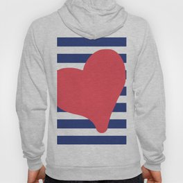 In love with stripes - blue Hoody