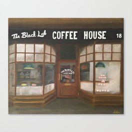 THE BLACK LAB COFFEE HOUSE Canvas Print