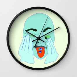 Sometimes I forget to take my anxiety medication In Lime Wall Clock