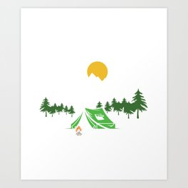 Campfire Drinking Campers Travel Traveling Nature I Hate People Introvert Camping Gift Art Print