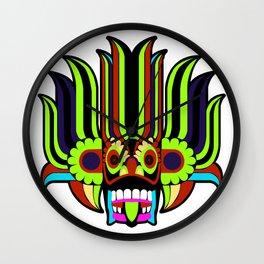 Traditional Mask Art Wall Clock