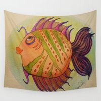 potter Wall Tapestries featuring MRS. POTTER by Caribbean Critters Co.