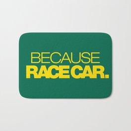 BECAUSE RACE CAR v5 HQvector Bath Mat