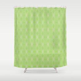 hopscotch-hex bright green Shower Curtain