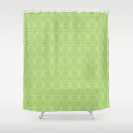 hopscotch-hex bright green Shower Curtain