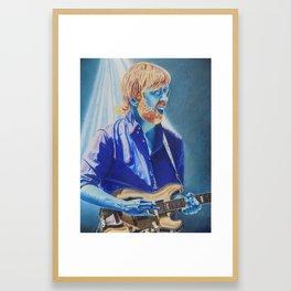 Trey Anastasio in Blue Framed Art Print