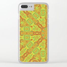 Vibrant Kaleidsocope 4 Clear iPhone Case