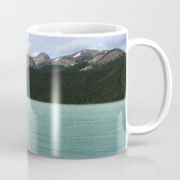 Lake Louise Red Canoes Coffee Mug