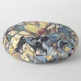 12,000pixel-500dpi - Arthur Szyk - Samson in the Ghetto - Digital Remastered Edition Floor Pillow