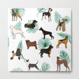 Miracles with paws #illustration #pattern Metal Print
