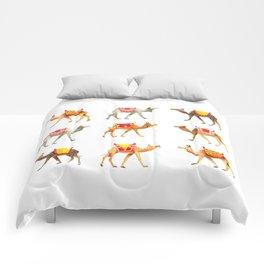 Cute watercolor camels Comforters