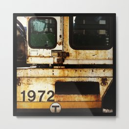 MBTA Construction Metal Print