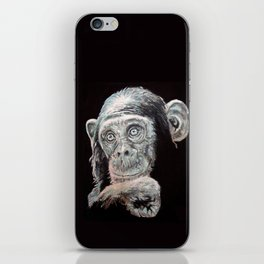 a Jane Goodall quote - black iPhone Skin