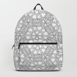 Love Hearts Doodle - Silver Backpack