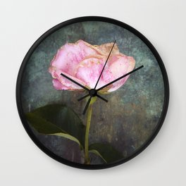 Wilted Rose III Wall Clock