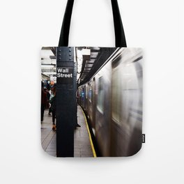 Wallstreet Subway Tote Bag
