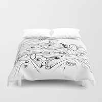 sketch Duvet Covers featuring Sketch by Spine B7