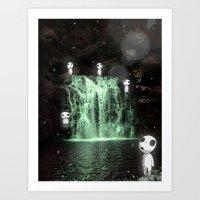 kodama Art Prints featuring Forest Spirits (Kodama) by Paul K Arnold