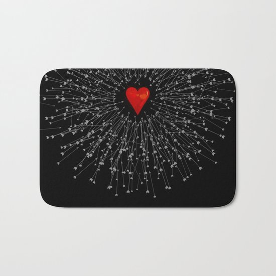 Heart&Arrows_BLACK Bath Mat