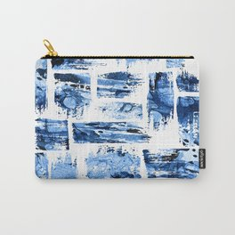 Watercolor blue brush Carry-All Pouch