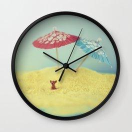 Doggy island Wall Clock