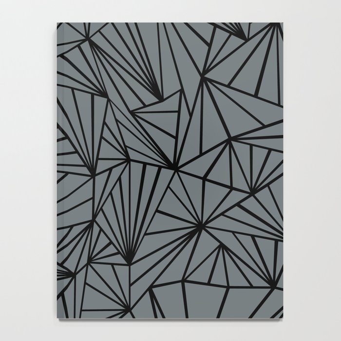 Ab Fan Grey and Black Notebook
