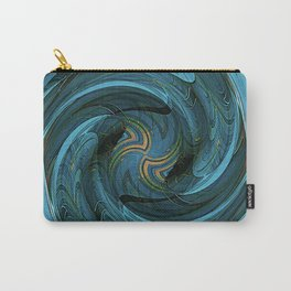Sapphire Swirl Carry-All Pouch
