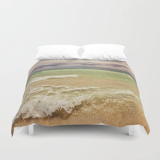 green sea Duvet Cover