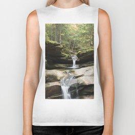 waterfall in NH Biker Tank