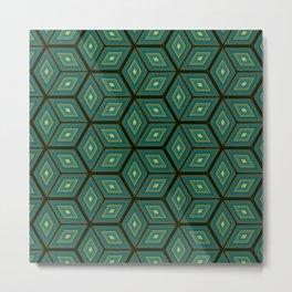 Cubed Geometrical Pattern Metal Print