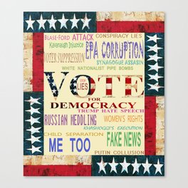 Vote For Democracy Canvas Print