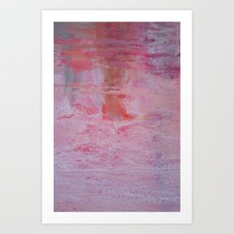 abstract sunset in the sand Art Print