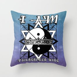 I AM - Philosopher King Throw Pillow