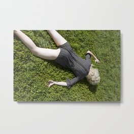 face down Metal Print