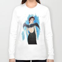 angel Long Sleeve T-shirts featuring Angel by Alina Rubanenko