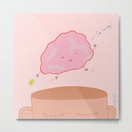Brain on Vacation Metal Print
