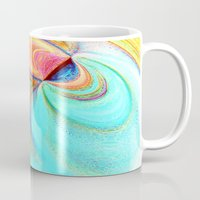 flight Mugs featuring Flight by Sandy Moulder