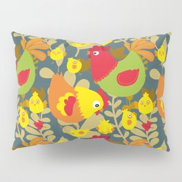 Chickens in the Farmyard Pillow Sham