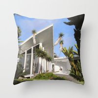 san diego Throw Pillows featuring San Diego Modern Pathway by Danny Heller