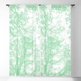 Mint abstract trees Blackout Curtain