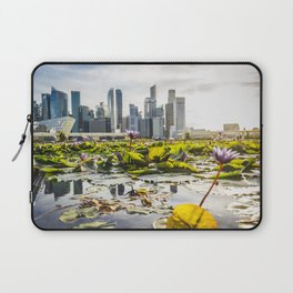 Singapore skyline and financial district Laptop Sleeve