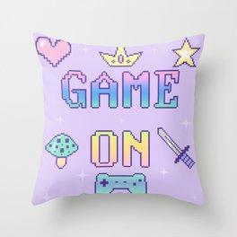 Game On (pastel) Throw Pillow