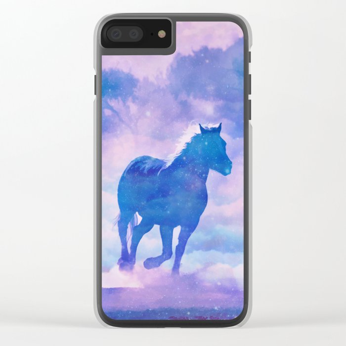 Horses run Clear iPhone Case