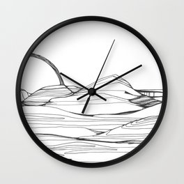 Neutral Susnset Wall Clock