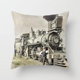 Colorized History Throw Pillow