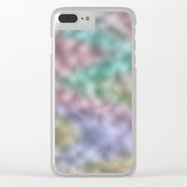 Mottled Rainbow Iridescent Foil Clear iPhone Case