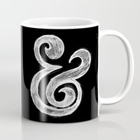 ampersand Mugs featuring Ampersand by Artworks by Pablo Zarate Inc.