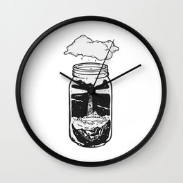 World in a jar Wall Clock