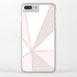 GEO SUNBURST ROSEGOLD PASTEL Clear iPhone Case