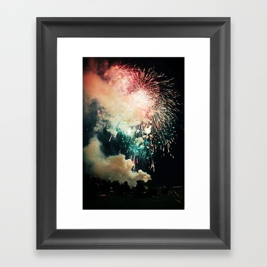 Bursts of light. Framed Art Print